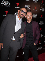 DORAL, FL - NOVEMBER 6: Miguel Varoni,Luis Ernesto Franco on the red carpet for Telemundo's season premiereofSenora Acero,La Coyote in CineBistro at City Place Doral, Florida. November 6, 2017. Credit: mpi140 / MediaPunch /NortePhoto.com