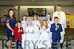 Tiernaboul NS pupils who received their First Holy Communion with Fr Kieran O'Brien and teacher Katie Murphy in the Church of the Resurection Killarney on Saturday included in picture are Muireann Spillane, Michella and Casey Mulry, Katie Yreyaud, Grace O'Keeffe, Ryan Downing and Robert Ryan