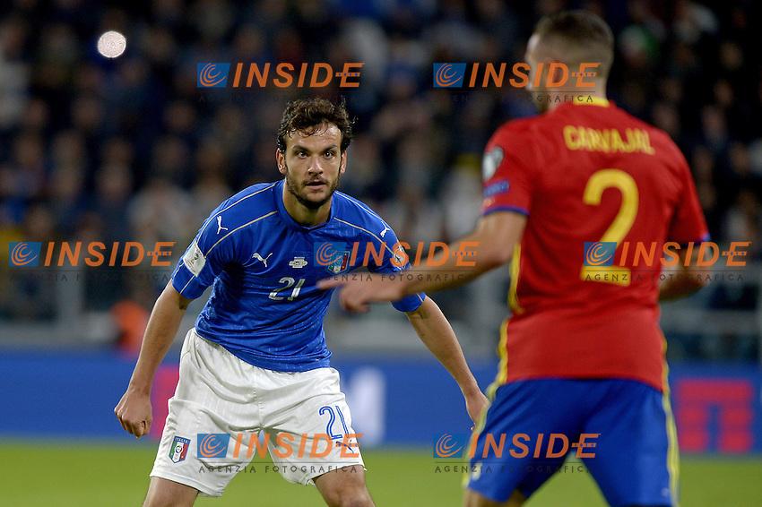 Marco Parolo Italy,<br /> Torino 06-10-2016 Juventus Stadium <br /> World Cup Qualifiers Italy - Spain / Italia - Spagna. Foto Filippo Alfero / Insidefoto