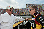 June 14 2009:  Richard Childress (left) and Sprint Cup driver Jeff Burton (right) on the grid at the LifeLock 400 at Michigan International Speedway in Brooklyn, MIchigan.