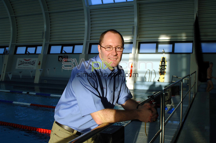 Pix by Simon Wilkinson/SWpix.com.....Feature, Swimming Coach, Kevin Renshaw, 11.1.06..Picture Copyright >> Simon Wilkinson >> 07811267706>>..British swimming coach Kevin Renshaw at the Loughborough university pool
