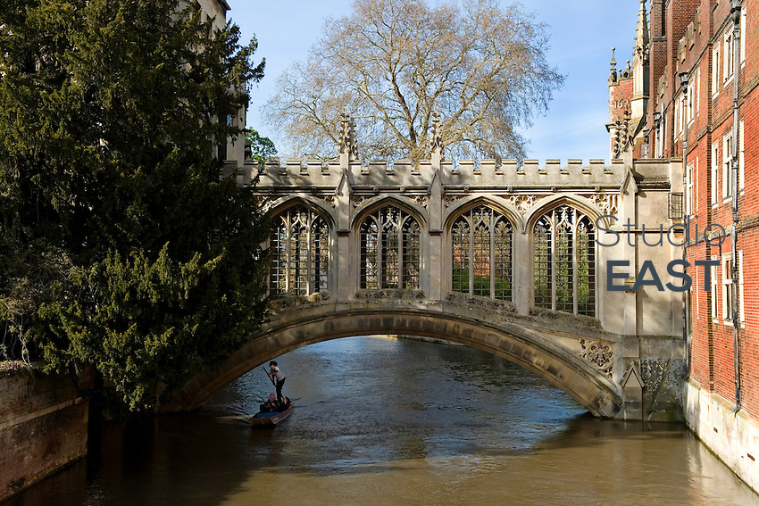 The Bridge of Sighs in Saint John's College in Cambridge, UK, on April 30, 2012. Photo by Lucas Schifres/Pictobank