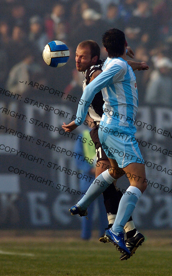 Sport Fudbal Ofk Beograd Partizan Belgrade Serbia Soccer Ivan Tomic 3.12.2006. photo: Pedja Milosavljevic<br />