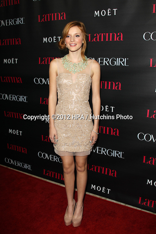 """LOS ANGELES - OCT 4:  Bella Thorne arrives at the """"Latinos In Hollywood"""" Event at The London West Hollywood on October 4, 2012 in West Hollywood, CA"""