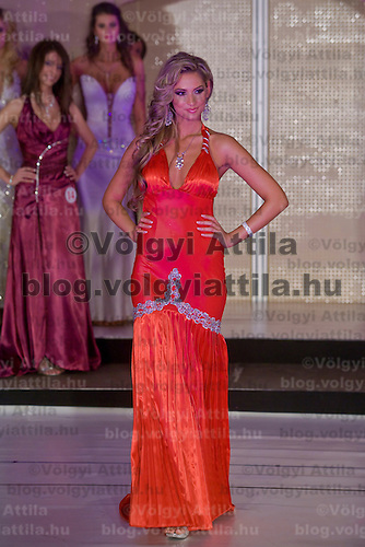 Anett Maximovits won the Miss Hungary beauty contest held in Budapest, Hungary. Saturday, 19. December 2009. ATTILA VOLGYI