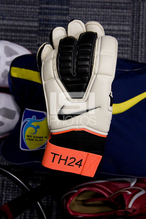 Locker Room, soccer gloves. The USMNT tied Argentina, 1-1, at the New Meadowlands Stadium in East Rutherford, NJ.