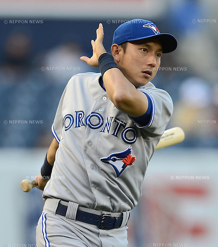 Munenori Kawasaki (Blue Jays),.MAY 17, 2013 - MLB :.Munenori Kawasaki of the Toronto Blue Jays bats during the baseball game against the New York Yankees at Yankee Stadium in The Bronx, New York, United States. (Photo by AFLO)