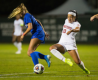 STANFORD, CA - NOVEMBER 22: Stanford, CA - November 22, 2019: Maya Doms at Laird Q. Cagan Stadium. The Stanford Cardinal defeated Hofstra 4-0 in the second round of the NCAA tournament. during a game between Hofstra and Stanford Soccer W at Laird Q. Cagan on November 22, 2019 in Stanford, California.
