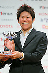 Miho Fukumoto (Belle), November 13, 2012 - Football / Soccer : Plenus Nadeshiko LEAGUE 2012 Award ceremony in Tokyo, Japan. (Photo by Yusuke Nakanishi/AFLO SPORT).