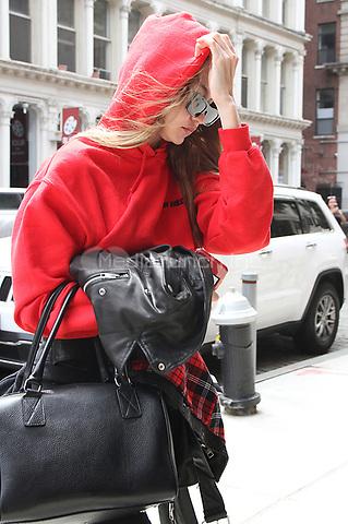 NEW YORK, NY - MAY 4: Gigi Hadid seen in New York City on May 04, 2018. Credit: RW/MediaPunch