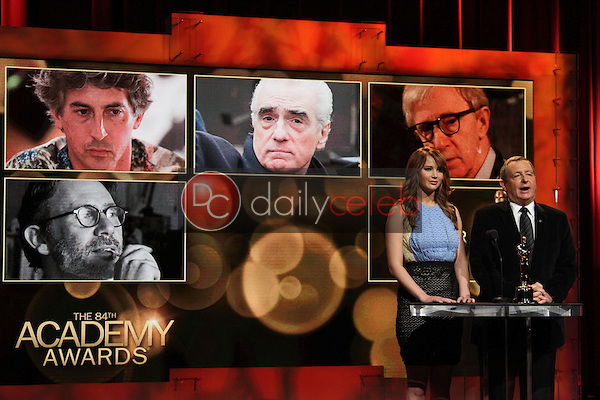 Jennifer Lawrence and Tom Sherak<br />