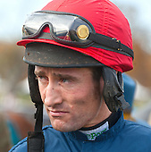 Euro-jock Dougie Costello came to the states to ride Royal Bonsai in the Grand National for Riverdee Stable.