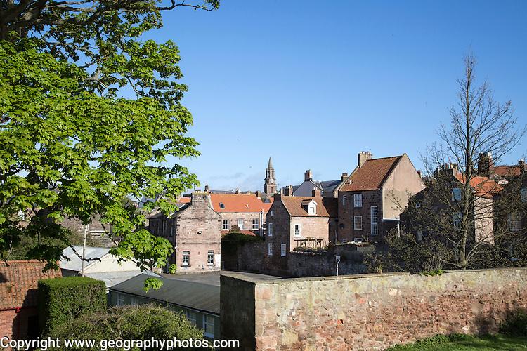 Historic buildings in Berwick-upon-Tweed, Northumberland, England, UK