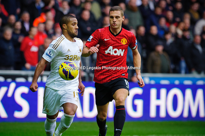 Sunday, 23 November 2012<br /> <br /> Pictured: Wayne Routlage of Swansea City<br /> <br /> Re: Barclays Premier League, Swansea City FC v Manchester United at the Liberty Stadium, south Wales.