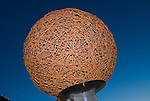 Giant ball of barb wire in front of the Devil's Rope and Route 66 Museums in McClean, Tex.
