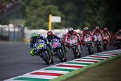 June 4th 2017, Mugello Circuit, Tuscany, Italy; MotoGP Grand Prix of Italy, Race day;  VALENTINO ROSSI MOVISTAR YAMAHA MotoGP, <br /> MAVERICK VINALES MOVISTAR YAMAHA MotoGP, ANDREA DOVIZIOSO Ducati,<br /> JORGE LORENZO  DUCATI TEAM