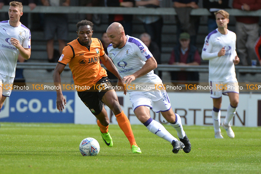 Jean-Louis Akpa Akpro of Barnetand Alan McCormack of Luton Town during Barnet vs Luton Town, Sky Bet EFL League 2 Football at the Hive Stadium on 12th August 2017