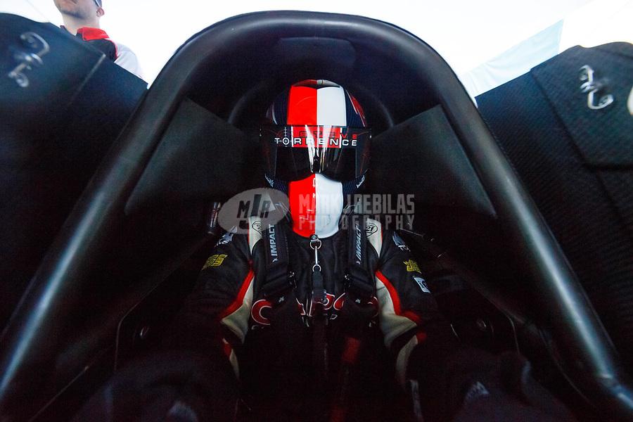 Jun 10, 2017; Englishtown , NJ, USA; NHRA top fuel driver Steve Torrence during qualifying for the Summernationals at Old Bridge Township Raceway Park. Mandatory Credit: Mark J. Rebilas-USA TODAY Sports