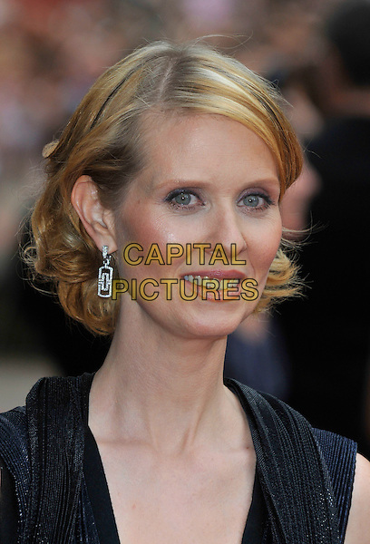 """CYNTHIA NIXON .Red Carpet Arrivals at the """"Sex And The City"""" Movie World Premiere, Odeon Leicester Square, London, England, UK,.May 12th 2008..portrait headshot earrings.CAP/PL.©Phil Loftus/Capital Pictures"""