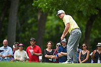 Charley Hoffman (USA) watches his putt on 2 during round 4 of the 2019 Charles Schwab Challenge, Colonial Country Club, Ft. Worth, Texas,  USA. 5/26/2019.<br /> Picture: Golffile | Ken Murray<br /> <br /> All photo usage must carry mandatory copyright credit (© Golffile | Ken Murray)