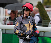 June 10th 2017, Chester Racecourse, Cheshire, England; Chester Races Horse racing; Jockey Stevie Donohoe after losing out on Modernism in the Crabbies Handicap Stakes