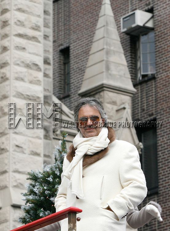 Andrea Bocelli.attending The 83rd Annual Macy's Thanksgiving Day Parade in New York City..November 26, 2009.© Walter McBride /