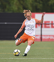 20180519 - LILLE , FRANCE : Montpellier's Janice Cayman pictured during the 21 st competition game between the women teams of Lille OSC and Montpellier Herault Sporting Club in the 2017-2018 season of the first Division - Ligue 1 at stade Lille Metropole , Sunday 19th May 2018 ,  PHOTO Dirk Vuylsteke | Sportpix.Be