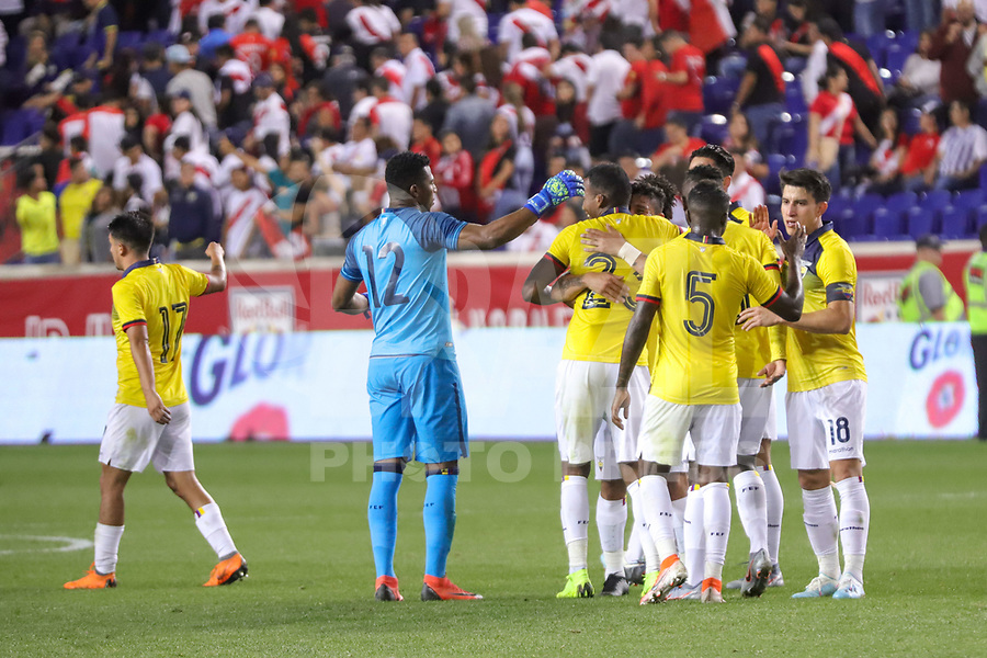 Harrison (EUA), 05/09/2019 - Amistoso Internacional - Peru x Equador -  Jogadores do Equador durante partida contra o Peru amistoso internacional na Red Bull Arena em Harrison nos Estados Unidos nesta quinta-feira, 05.  (Foto: William Volcov/Brazil Photo Press)