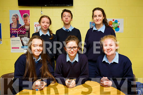 KERRY SCIENCE: Students from St Joseph's Ballybunion  who participated in the Senior science quiz at Tralee IT on Thursday evening pictured here are Front l-r Martha Kureczko, Maeve Scanlon, Niamh Stack back Emer Nolan, Kieran Nolan and Molly Mulvihill