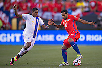 Action photo during the match Chile vs Panama, Corresponding to Group -D- America Cup Centenary 2016 at Lincoln Financial Field.<br /> <br /> Foto de accion durante el partido Chile vs Panama, Correspondiente al Grupo -D- de la Copa America Centenario 2016 en el  Lincoln Financial Field, en la foto: (i-d) Miguel Camargo de Panama y Jean Beausehour de Chile<br /> <br /> <br /> 14/06/2016/MEXSPORT/Javier Ramirez.