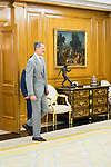 King Felipe VI of Spain during an audience with CEO of Hogan Lovells Stephen J. Immelt and partner director of the office of Hogan Lovells in Madrid Lucas Osorio. July 12,2019. (ALTERPHOTOS/Francis Gonzalez)