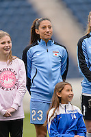 Bridgeview, IL, USA - Sunday, May 1, 2016:  Chicago Red Stars forward Christen Press (23) before a regular season National Women's Soccer League match between the Chicago Red Stars and the Orlando Pride at Toyota Park. Chicago won 1-0.