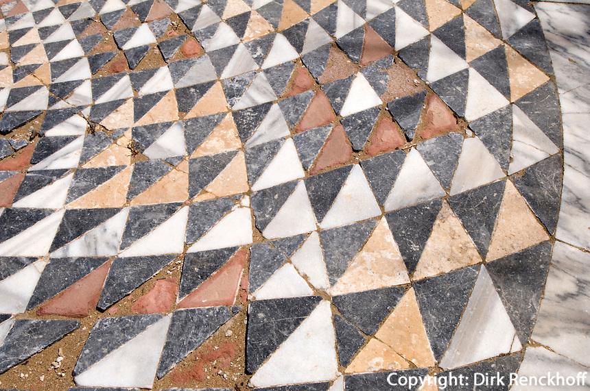 Nordzypern, antike Stadt Salamis, Basilika von Kampanopetra, 4. Jh., Boden-Mosaik