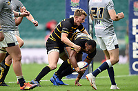 Seti Raumakita of Cornwall scores the match-winning try. Bill Beaumont County Championship Division 1 Final between Cheshire and Cornwall on June 2, 2019 at Twickenham Stadium in London, England. Photo by: Patrick Khachfe / Onside Images