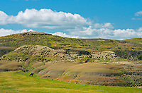 Riding horses in the Killdeer Badlands (East Block)<br />
