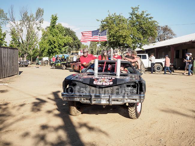 Jackson Rotary's Sunday Destruction Derby during Day 4 of the 79th Amador County Fair.<br /> <br /> #AmadorCountyFair, #PlymouthCalifornia,<br /> #TourAmador, #VisitAmador