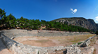Ancient Stadium (5th cent. B.C.) in Delphi, Greece