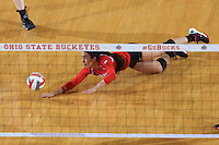 The Ohio State University women's volleyball team defeat Rutgers 30 on Senior night at St. John's Arena. Columbus, OH. November 28, 2015