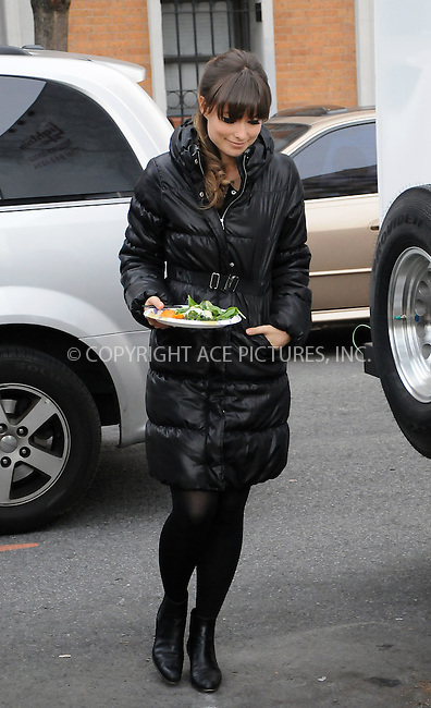 WWW.ACEPIXS.COM . . . . .  ....December 12 2011, New York City....Actress Olivia Wilde on the Brooklyn set of the new movie 'The Longest Week' on December 12 2011....Please byline: CURTIS MEANS - ACE PICTURES.... *** ***..Ace Pictures, Inc:  ..Philip Vaughan (212) 243-8787 or (646) 679 0430..e-mail: info@acepixs.com..web: http://www.acepixs.com