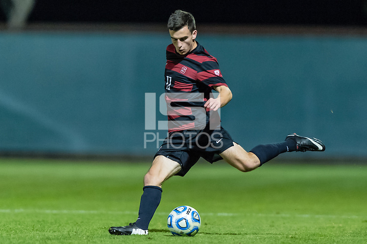 November 21, 2013: Aaron Kovar during the Stanford vs Loyola Marymount NCAA 1st round men's soccer match in Stanford, California.  Stanford won 3-2 on penalty kicks after a double overtime draw of 1-1.