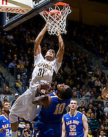 Emerson Murray of California shoots the ball during the game against SJSU at Haas Pavilion in Berkeley, California on December 7th, 2011.   California defeated San Jose State, 81-62.