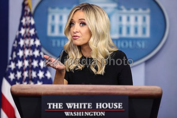 White House Press Secretary Kayleigh McEnany speaks during a press briefing in the James Brady Press Briefing Room of the White House on May 26, 2020 in Washington, DC.<br /> Credit: Oliver Contreras / Pool via CNP/AdMedia