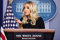 Kayleigh McEnany holds a press briefing at the White House