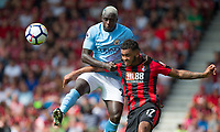 Benjamin Mendy of Manchester City & Joshua King of AFC Bournemouth during the Premier League match between Bournemouth and Manchester City at the Goldsands Stadium, Bournemouth, England on 26 August 2017. Photo by Andy Rowland.