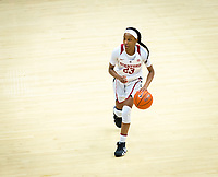 STANFORD, CA - February 22, 2019: Kiana Williams at Maples Pavilion. The Stanford Cardinal defeated the Arizona Wildcats 56-54.