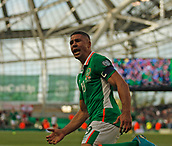 June 11th 2017, Dublin, Republic Ireland; 2018 World Cup qualifier, Republic of Ireland versus Austria; Jonathan Walters celebrates scoring the equalising goal for Republic of Ireland i thr 85th minute [1-1]