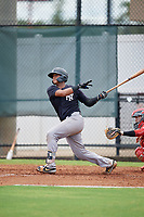 GCL Yankees East Hemmanuel Rosario (7) bats during a Gulf Coast League game against the GCL Phillies West on August 3, 2019 at the Carpenter Complex in Clearwater, Florida.  The GCL Phillies West defeated the GCL Yankees East 15-7 in a completion of a game that was originally started on July 26, 2019.  (Mike Janes/Four Seam Images)