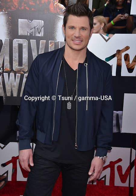 Nick Lachey 260 at the 2014 MTV Movie Awards at the Nokia Theatre in Los Angeles.