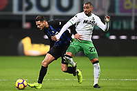 Kevin Prince Bateng-Danilo D'Ambrosio<br /> Milano 19-1-2019 Giuseppe Meazza stadium Football Serie A 2018/2019 Inter - Sassuolo <br /> Foto Image Sport / Insidefoto