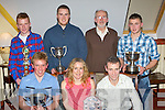 Farranfore/Maine Valley senior athletes who were honored at the club annual social in Milltown on Friday night front row l-r: Arthur Fitzgerald, Maria McCarthy, George McCarthy. Back row: Jack O'Sullivan, Daniel Clifford, Jerome Crowley and Jonathon Foley..